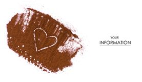 Coffee ground heart pattern stock photography