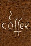 Coffee ground word Royalty Free Stock Photo