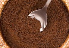 Coffee grounds. Stock Images