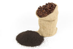 Coffee grounds. Royalty Free Stock Image
