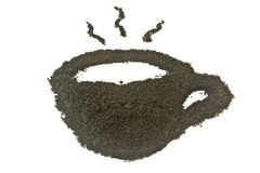 Coffee grounds, coffee cup shape Stock Photos