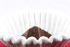 Coffee Grounds Filter Royalty Free Stock Photo