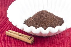 Coffee Grounds Filter Stock Photography