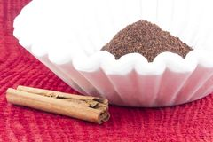 Coffee Grounds Filter Stock Images