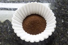 Coffee Grounds Filter Royalty Free Stock Image