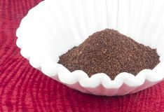 Coffee Grounds Filter Stock Image