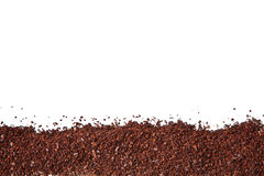 Coffee grounds isolated Stock Image