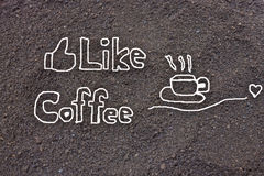 Coffee grounds, like coffee Royalty Free Stock Photo