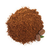 Coffee grounds on white Stock Images