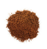 Coffee grounds on white Royalty Free Stock Photo