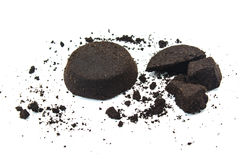 Coffee grounds. On white background Stock Image