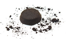 Coffee grounds. On white background Stock Photo