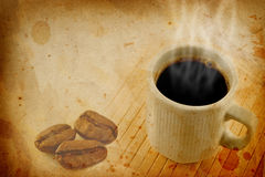 Coffee grunge background Stock Image