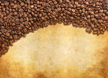 Coffee grunge background Stock Photos