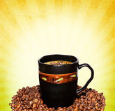 Coffee grunge background Royalty Free Stock Photo