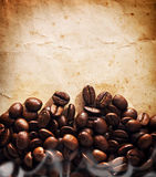 Coffee grunge background Stock Image