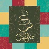 Coffee grunge. Retro vintage coffee background with square pattern Stock Photo