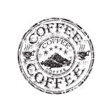 Coffee grunge rubber stamp Stock Images