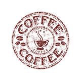 Coffee Grunge Rubber Stamp Royalty Free Stock Images