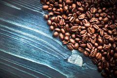 Coffee on grunge wooden Royalty Free Stock Image