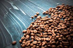 Coffee on grunge wooden Stock Image