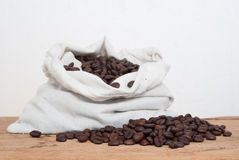 Coffee on grunge wooden Royalty Free Stock Photography