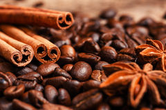Coffee on grunge. Wooden background Stock Photo