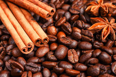 Coffee on grunge. Wooden background Stock Photography