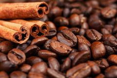Coffee on grunge. Wooden background Stock Images
