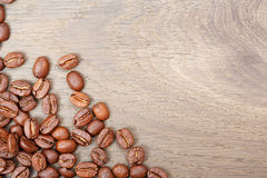Coffee on grunge wooden background. High res macro photo Royalty Free Stock Image