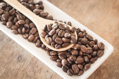 Coffee on grunge wooden background Stock Images