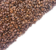 Coffee half background diagonal. Pattern Royalty Free Stock Image