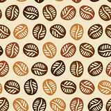 Coffee Hand Drawn Pattern Stock Photos