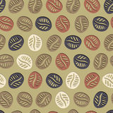 Coffee Hand Drawn Pattern Stock Image
