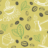 Coffee Hand Drawn Seamless Pattern Royalty Free Stock Photography