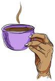 Coffee hand Stock Photography