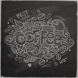 Coffee hand lettering On Chalkboard Stock Photo