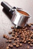 Coffee handle Stock Photo