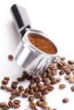 Coffee handle Stock Images