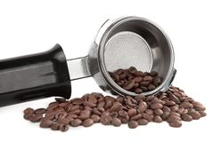 Coffee handle Stock Photos