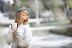 Coffee and happiness. Stock Photo