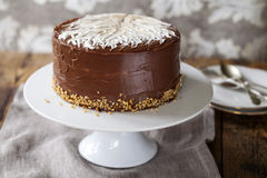 Coffee and hazelnut cake Royalty Free Stock Images
