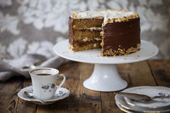 Coffee and hazelnut cake Stock Image
