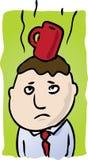 coffee head διανυσματική απεικόνιση