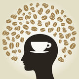 Coffee a head Royalty Free Stock Image