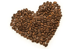 Coffee- heart Royalty Free Stock Photography
