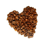 Coffee and heart Royalty Free Stock Images