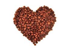 Coffee heart Stock Image