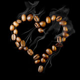 Coffee heart Royalty Free Stock Photo