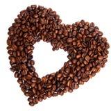 Coffee heart Stock Photography